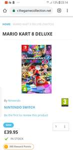 Mario kart 8 @ TheGameCollection £39.95 free delivery