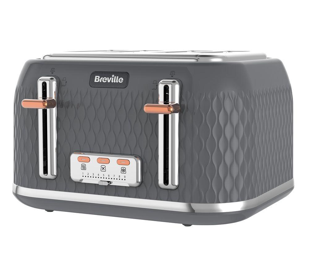 BREVILLE Curve VTT912 4-Slice Toaster - Granite Grey £35 @ Currys