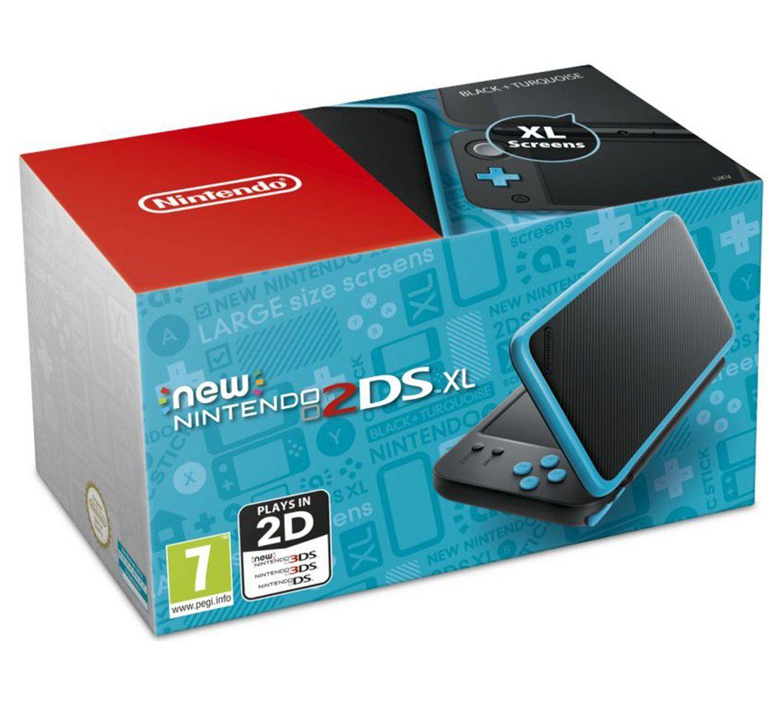Nintendo 2DS XL Console - Black/Turquoise+ 3 Free Games £129.99 @ Argos