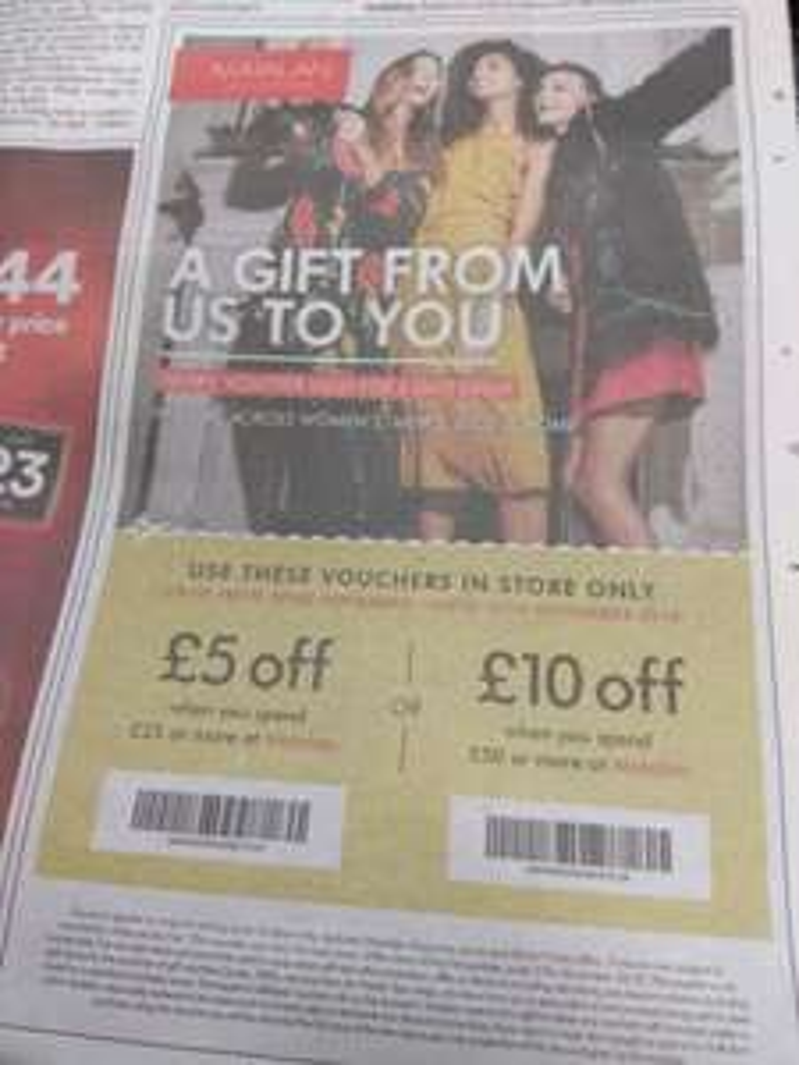 Matalan £5 of £25 shop / £10 off £50 shop vouchers in today's Metro