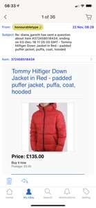 Tommy Hilfiger down jacket red men's at ebay/80S CASUAL CLASSICS LTD for £135