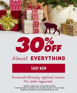 PAPERCHASE 30% OFF almost EVERYTHING online