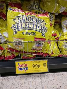 Smiths Scampi fries/Bacon fries 99p multi pack (3 bags of each) @ home bargains