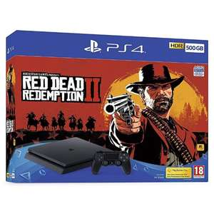 Deal on PlayStation 4 (500GB) Black Console with Red Dead Redemption 2 £219.99 @ 365 Games