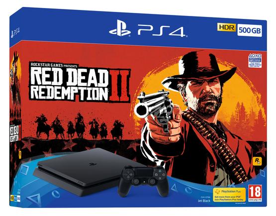 PS4 Slim 500GB Red Dead Redemption 2 or Black Ops 4 or Fifa 19 console + Doom + Hidden Agenda  £199.85 @ ShopTo