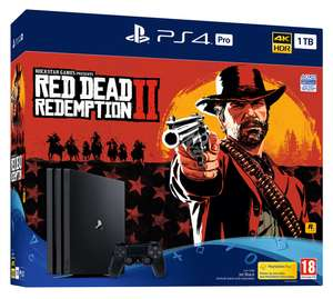 PS4 Pro 1TB Red Dead Redemption 2 Console (Inc The Warhorse and Outlaw Survival Kit) + Doom + Hidden Agenda - £329.86 - Shopto