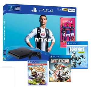 500GB PLAYSTATION 4 WITH FIFA 19 + FORTNITE DEEP FREEZE BUNDLE + BATTLEBORN AND LITTLE BIG PLANET 3 £229.99 @ GAME
