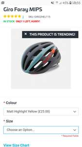 Giro Foray MIPS helmet £28.99 delivered @ Ribble 4%TCB