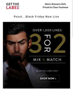 Get The Label 3 for 2 Black Friday offer.