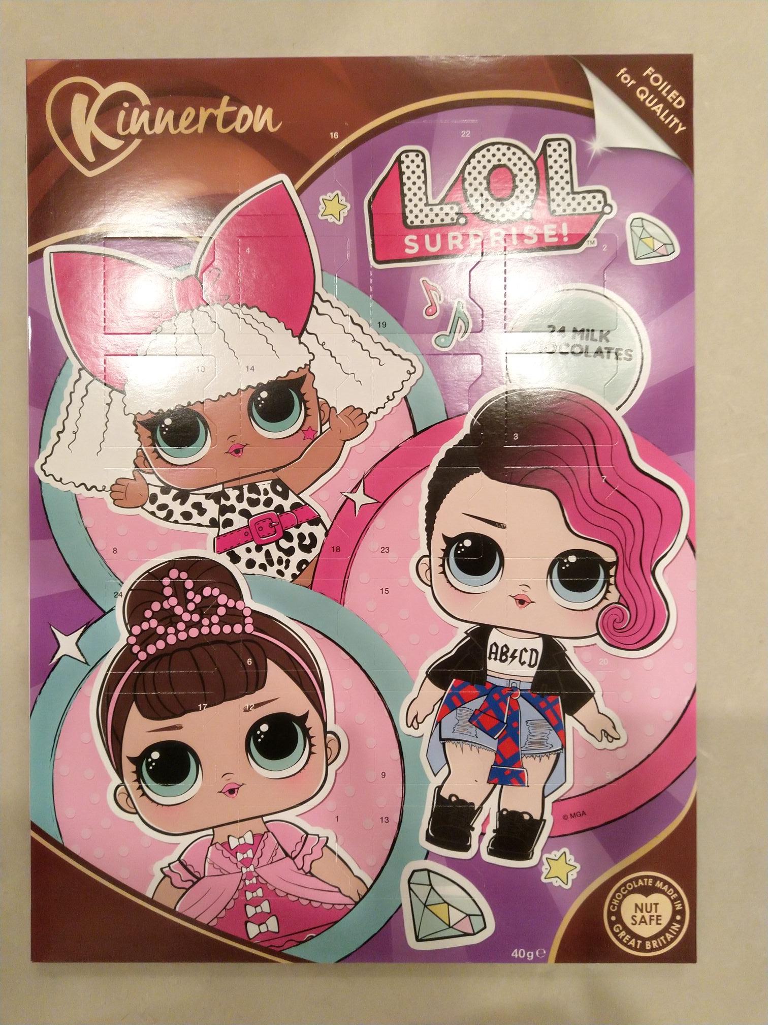 Chocolate advent calendars £1 in B&M, LOL, Simpsons, Transformers, My little pony...