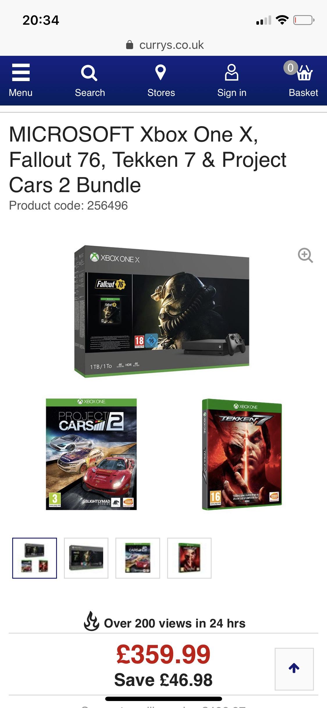Xbox one x fallout 76 bundle - £359.99 @ Currys