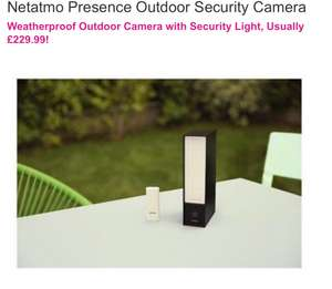 Netatmo Presence Outdoor Security Camera £164.98 @ BT shop