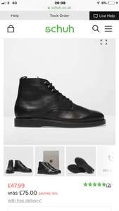 H By Hudson Black Battle men's Boots free next day delivery - £47.99 @ Schuh