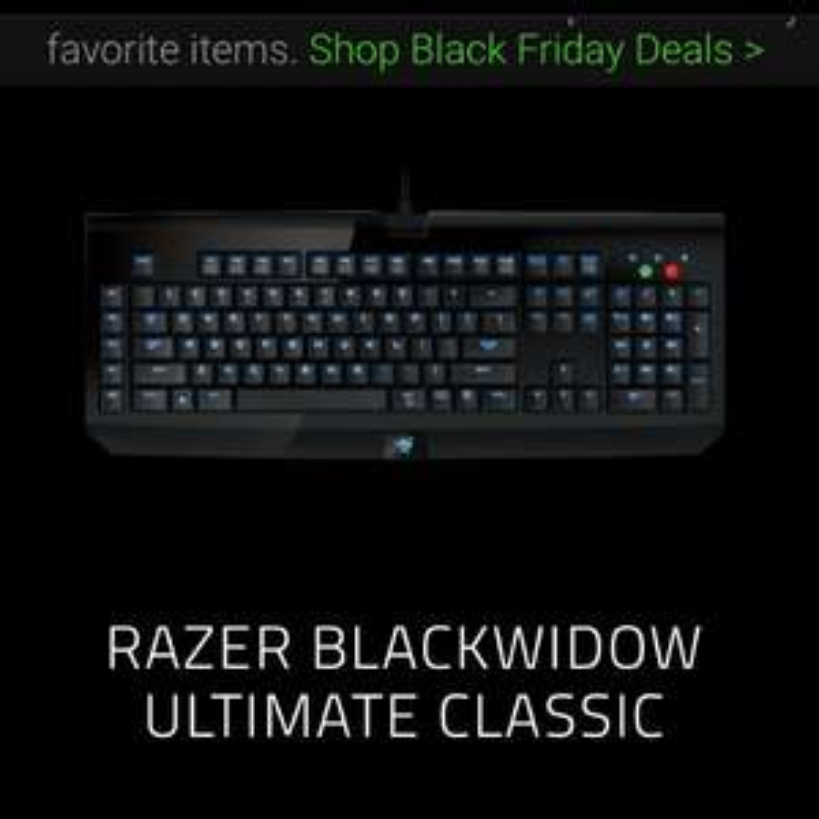 RAZER BLACKWIDOW ULTIMATE CLASSIC £59.99 @ Razerzone