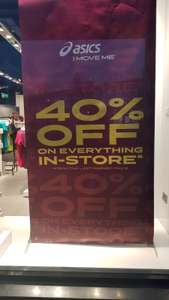 Asics Outlet, Junction One,Antrim - 40% Everything instore (on lowest ticket price)
