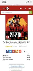 CEX offering £161 for Xbox One + RDR2 (Tesco selling for £139 = £22 profit)