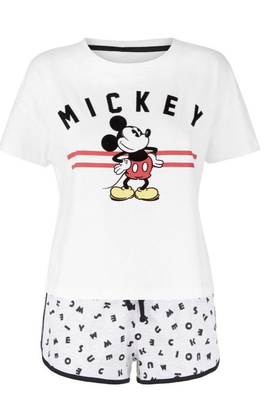 White Mickey Mouse Disney Pyjama Set (ladies) £6 Free delivery @ new look