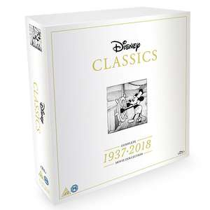 Disney Classics Complete Blu-ray Box Set 1937-2018 (200) - DVD box set is £160 - Link in description - Cheapest Price