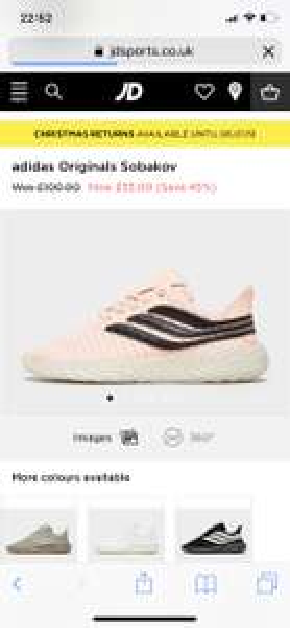 Adidas Sobakov only £55 at JD Sports (free C&C)