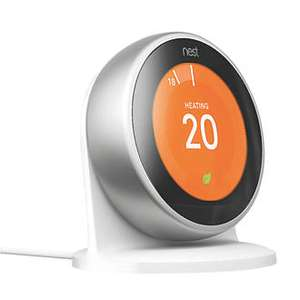 Nest Thermostat (Silver Only) and free stand £149.99 @ Screwfix