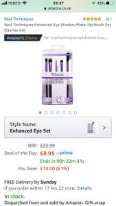Real techniques brushes £8.99 + £4.49 delivery (Non Prime) @ Amazon