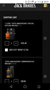Jack Daniels 150 year anniversary special edition and commemorative black Friday multi buy discount £91.49 @ Jack Daniels