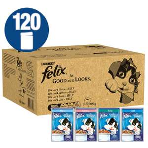 Felix As Good As It Looks Cat Food, Mixed Fish, 120 x 100 g (120 Pouches) @ Amazon Deal Of The Day £23.79 Prime