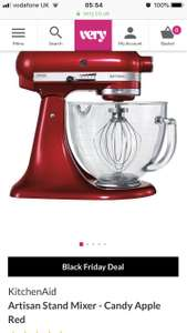 KitchenAid Artisan Stand Mixer - Candy Apple Red - £244.99 with code at Very