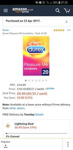 20 Durex Pleasure Me Condoms @ Amazon