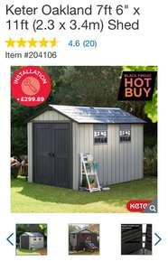 Keter Oakland 7ft x 11ft plastic shed £869.89 at Costco