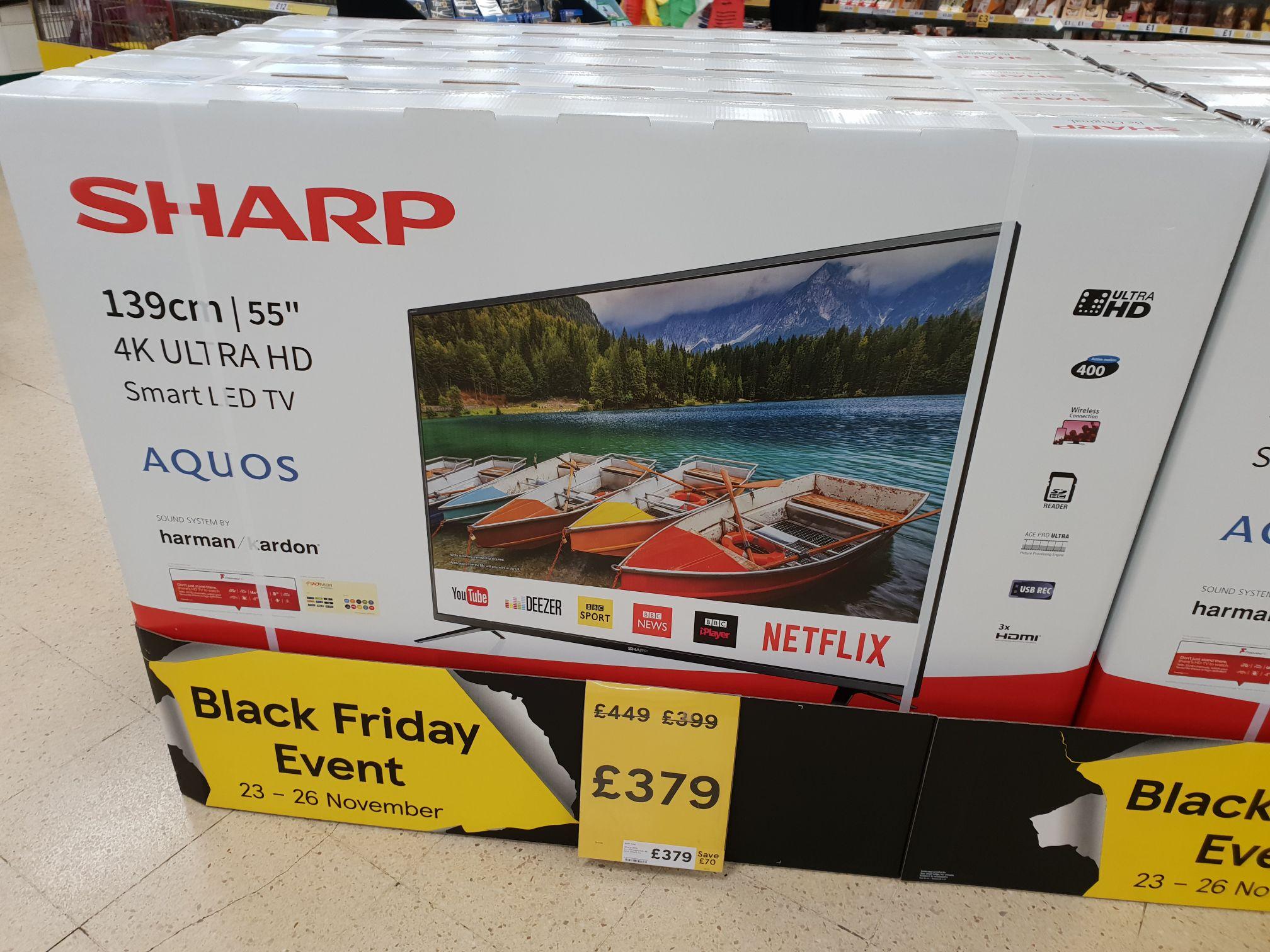 Sharp Aquos 55 inch 4k smart tv £379 Tesco instore