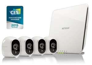 NETGEAR ARLO WIRE-FREE SECURITY SYSTEM WITH 4 HD CAMERAS (VMS3430) £339.99 Box.co.uk