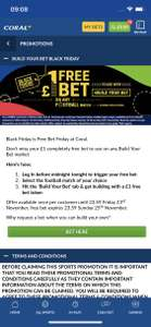 Free £1 Coral Black Friday bet