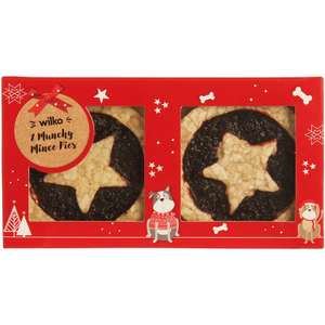 Christmas Munchy Mince Pies for Dogs 2pk 50p @ Wilko