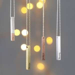 Lisa Angel Personalised Bar necklace 50% off now £14.50 Delivered