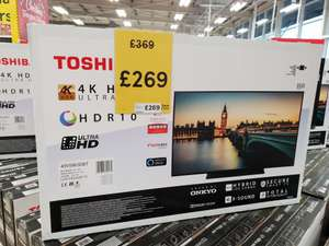 Toshiba 49V5863DBT 49 inch 4k smart tv with alexa support £269 instore Tesco