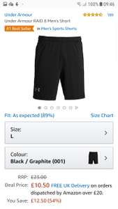 Under armour raid 8 sport shorts @ Amazon lowest ever price £10.50 (Prime) / £14.99 (non Prime) at Amazon