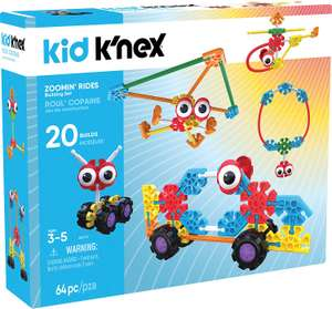 Kid K'NEX Zoomin' Rides Building Set for Ages 3 and Up, Preschool Educational Toy, 64 Pieces @ Amazon Lightning Deal £12.67 Prime