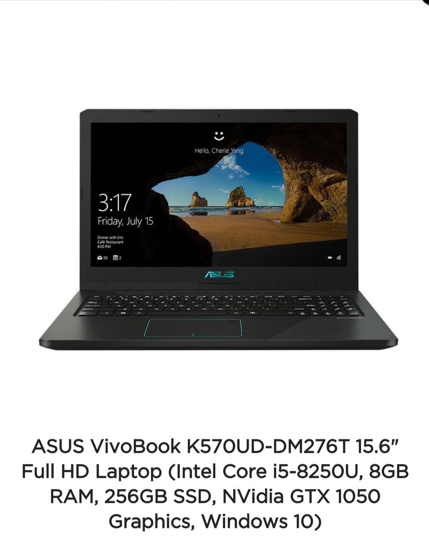 """Asus Vivobook K570UD. 15.6"""" I5 8th gen at ASUS for £599.99"""