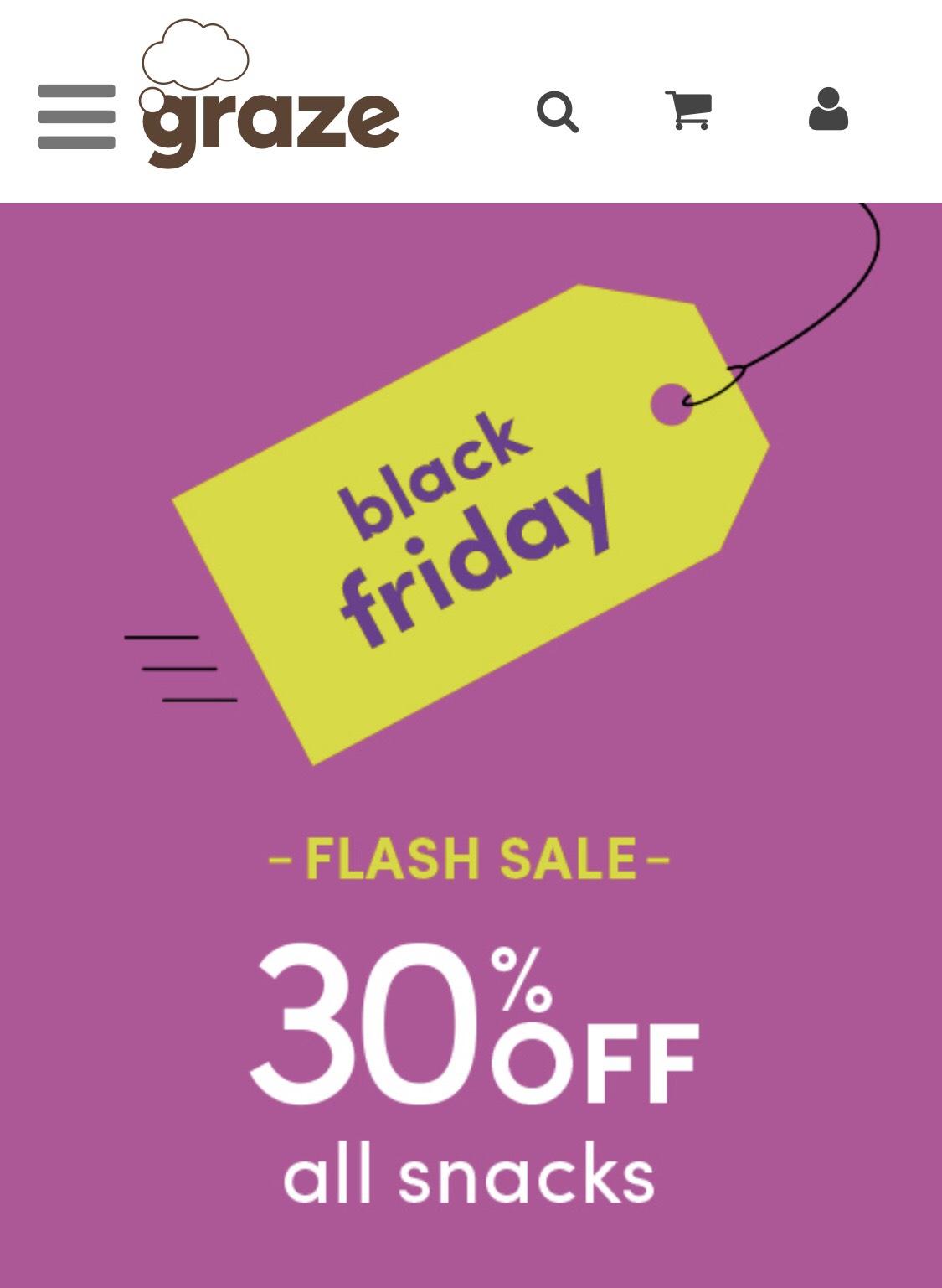 Graze Black Friday sale 30% off snacks