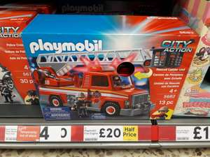 Playmobil 5682 City Action Fire Engine Rescue Ladder Unit Playset nòw 50% off was £40.00 now £20.00 @ Tesco
