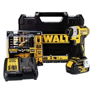 DeWalt Brushless 3 Speed Impact Driver [DCF887M1-GB] 18v 1x4.0Ah Li-ion Battery + Free DeWalt Bit Set £139 @ FFX / eBay