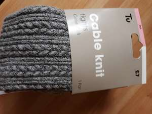 Tu (Sainsburys) Grey cable knit tights - £1.57 instore