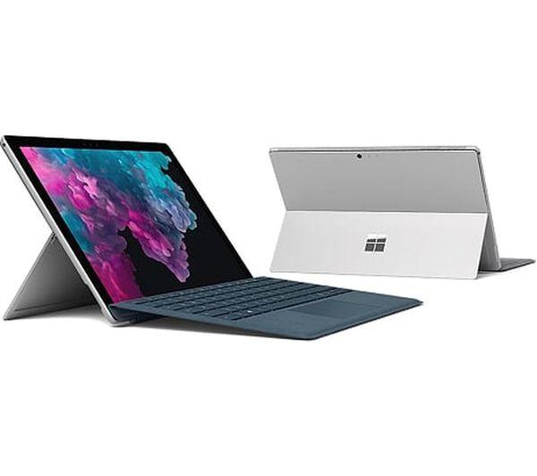 "MICROSOFT 12.3"" Intel® Core™ i5 Surface Pro 6 & Type Cover - 128 GB SSD, Platinum - £699 @ PC World"