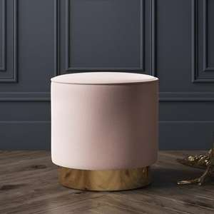 Velvet dressing table pouffe/stool £89.97 @ Furniture 123