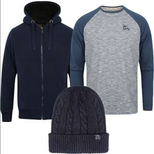 Men's Borg Lined Hoodie, Top & Hat for £24.99 w/code / £26.98 delivered @ Tokyo Laundry (Free del on £30+ spend)