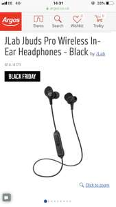 JLab Jbuds Pro Wireless In-Ear Headphones - Black @ Argos - £12.99