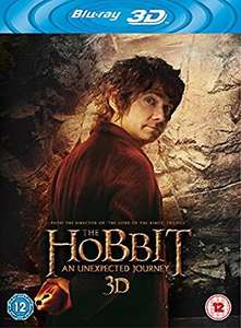 The Hobbit: An Unexpected Journey (3D Blu-ray) - £3.59 @ BASE