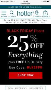 25% off everything plus free U.K. delivery at Hotter shoes