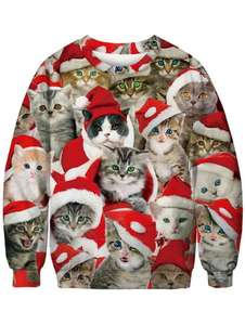 Christmas cat sweatshirt at Gamiss for £10.12 delivered